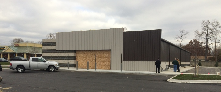 The Dollar General store is now fully enclosed for the winter