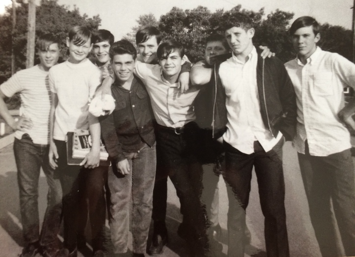 Fall 1968 - Jeff (second to the right) with his Avondale buddies standing on Waukegan