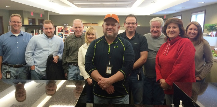 The Community Department Staff wishes Jeff (front and center) a Happy 60th Birthday