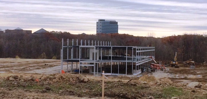 This new structure is being built at the intersection of Cross Creek Parkway and High Meadow Circle