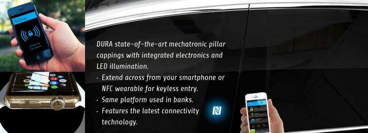 Soon you will be able to unlock and start your car with your cell phone or smart watch thanks to DURA engineers.  You could even text or e-mail your car key to a friend or family member.  Amazing!