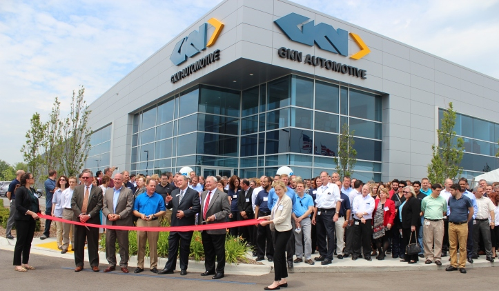 Auburn Hills Mayor Pro-Tem Bob Kittle (second to the right next to Oakland County Executive L. Brooks Patterson) was one of the dignitaries who spoke at the event and cut the ribbon