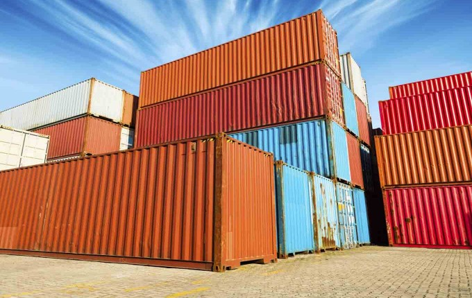 Metal containers should not be permanately located on residential property