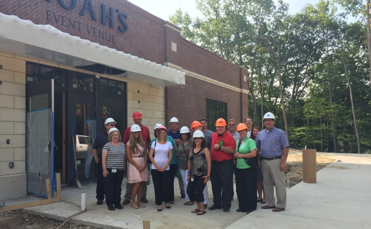 Builders gave the class a tour of Noah's Event Center currently under construction