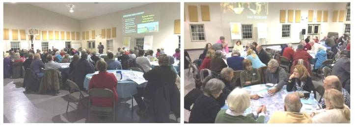 Photos from taken during the January 19th neighborhood meeting