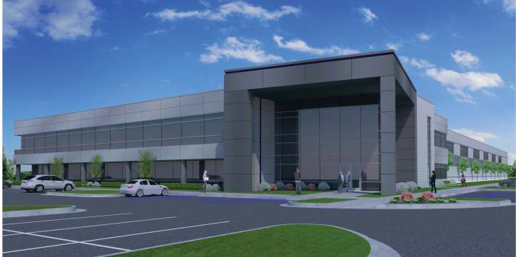 Computer rendering - view of the proposed building from I-75