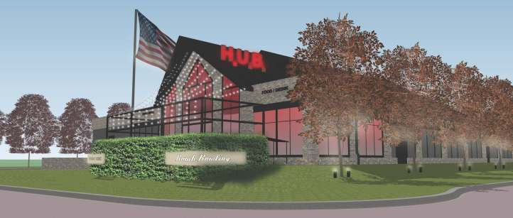 Rendering of the updated building
