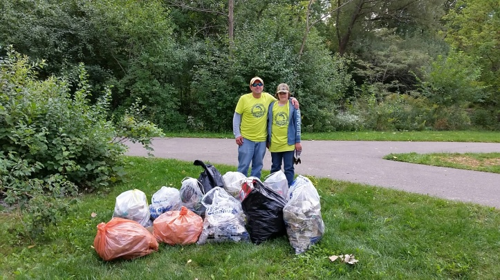 The efforts undertaken to improve the conditions of the one-half mile stretch of the Clinton River resulted in the removal of 14 bags of garbage.