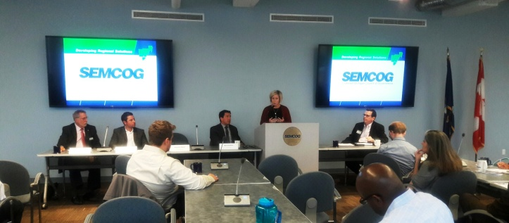 Stephanie Carroll speaking at SEMCOG University