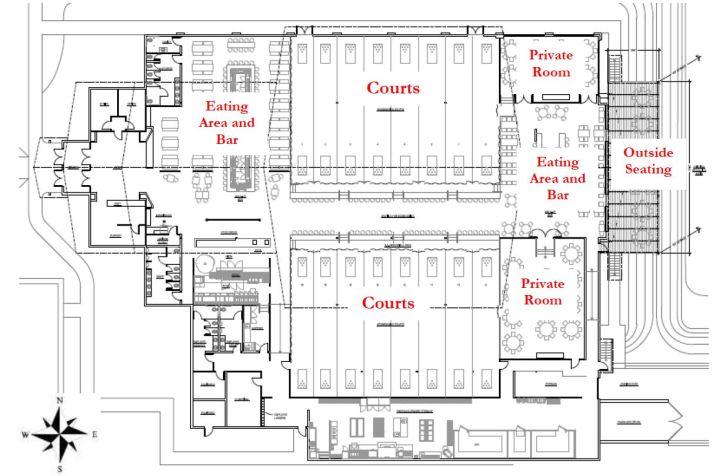 Floor plan for The H.U.B.