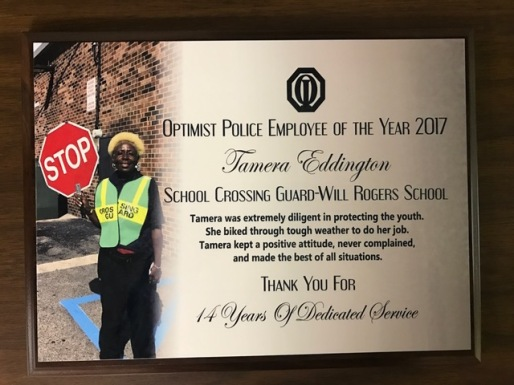 Ms. Eddington was nominated by Officer Brian Miller.