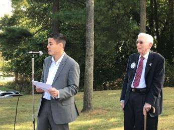 Mayor McDaniel with Auburn Hills' first City Manager, Leonard Hendricks.