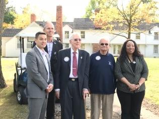 From left to right: Mayor McDaniel, City Manager Tom Tanghe, Mr. Leonard Hendricks, Council Member Henry Knight, Mayor Pro-tem VeRonica Mitchell.